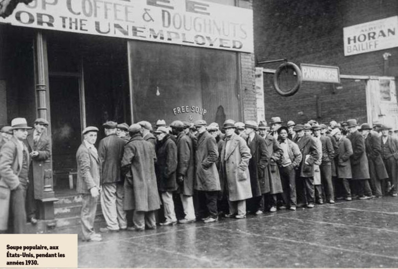 Soupe populaire aux États-Unis pendant les années 30